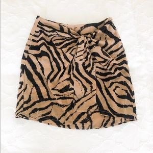 Superdown Zebra Skirt (Front-Tie)